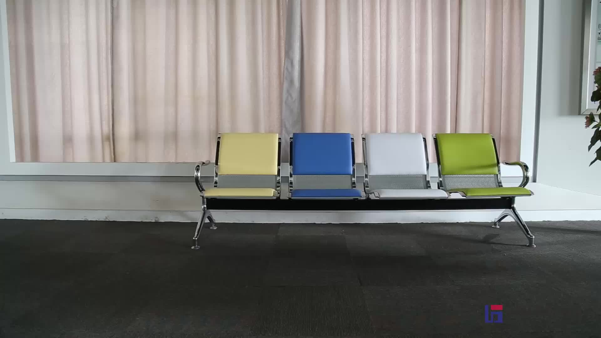 steel airport chair how to measure a for slipcover hospital waiting stainless link chairs