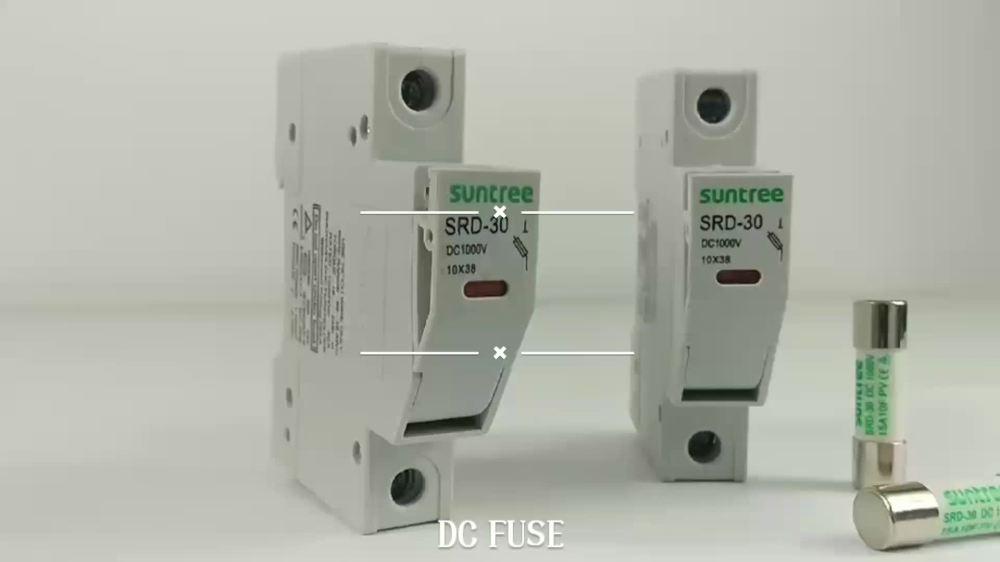 medium resolution of suntree srd 30 series 10x38mm fuse holder for solar pv system 12v solar fuse box solar fuse box