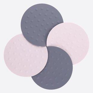 kitchen hot pads play wooden 圆形硅胶锅垫隔热垫厨房防烫餐桌垫耐热盘杯垫碗垫子家用餐具菜垫 厨房热垫