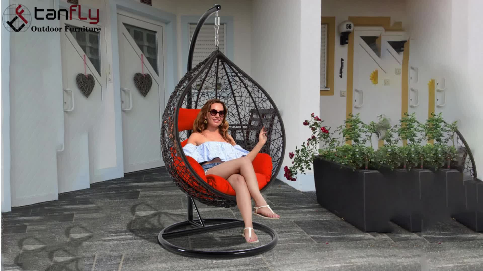 outdoor patio resin wicker hanging egg shaped garden chair with stand buy egg shaped hanging chair patio resin wicker hanging chair hanging garden