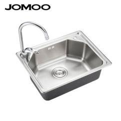 Single Bowl Stainless Kitchen Sink Ideas For Small Kitchens Galley Jomoo九牧不锈钢厨房水槽单槽套餐小户型洗菜盆洗碗池水池02080 Tmall Com天猫