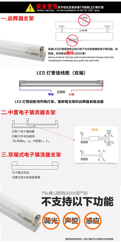 medium resolution of  fsl foshan lighting led lamp t8 t5 integrated lamp fluorescent tube energy saving light