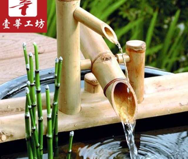 One Xen Mania Surprised Deer Bamboo Water Decoration Japanese Garden Bamboo Water Machine Indoor Bamboo Fountain