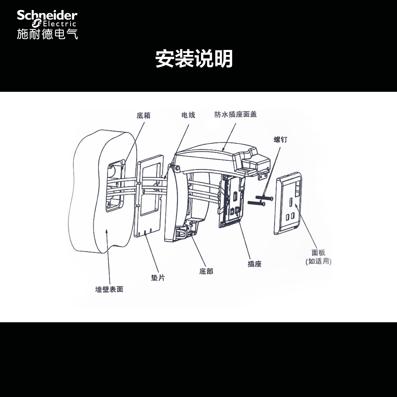 Schneider Switch Socket Universal Ip55 Grade Tianjia