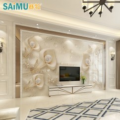 Living Room Border Design Staircase Pictures Usd 194 50 Tv Background Wall Tiles European Jane Decoration Atmospheric Film Simple Stone