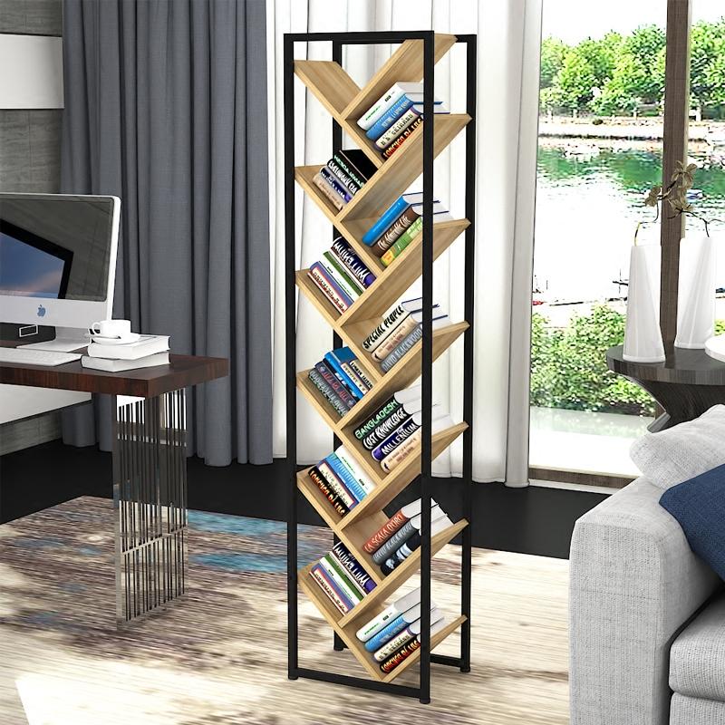 modern living room shelves for small usd 24 13 tree bookshelf simple floor shelf steel wood combination economy