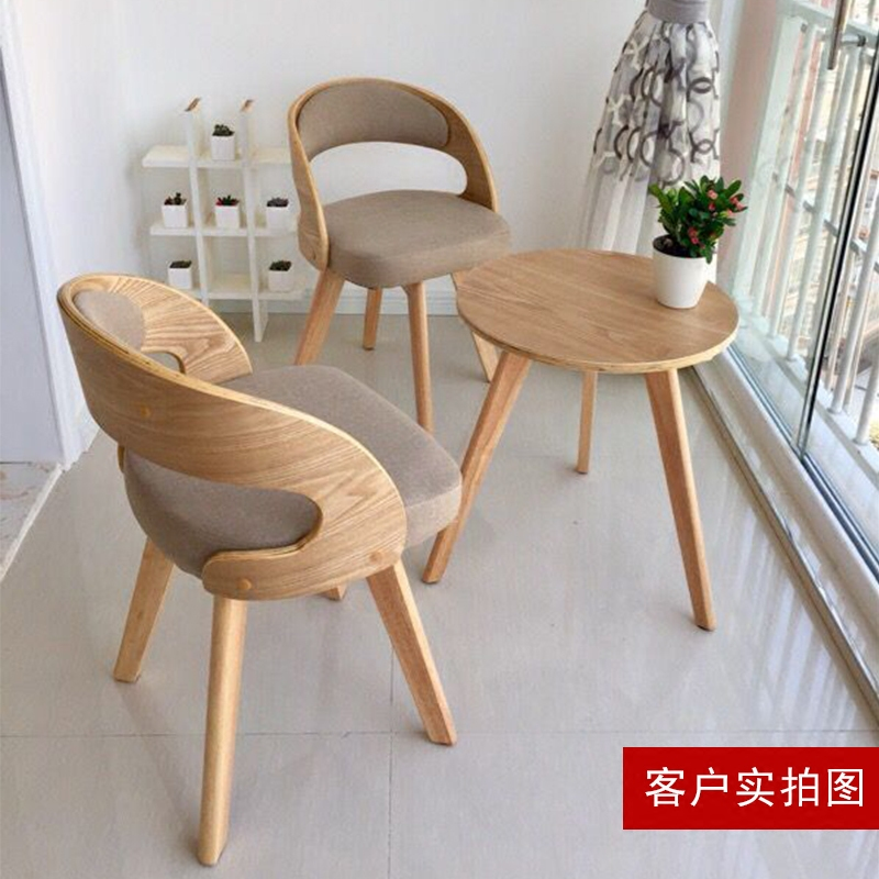 bedroom chair with table rei folding beach usd 52 61 solid wood balcony tables and chairs three sets of small coffee combination leisure