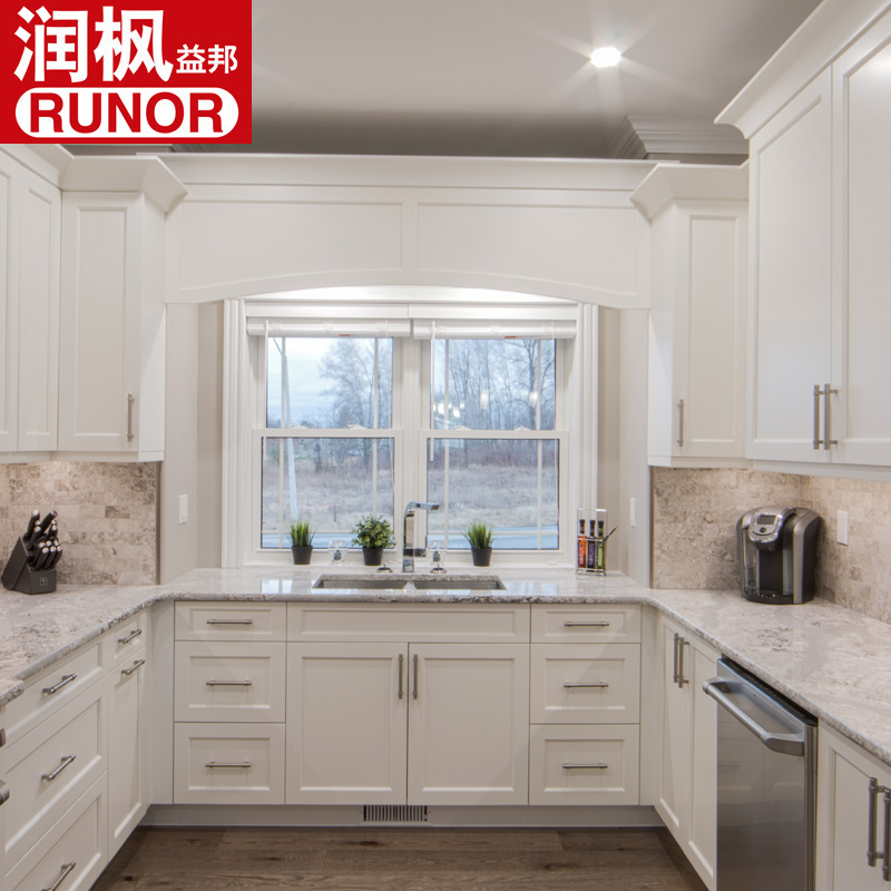 kitchen cabinets white antique faucets 白色厨柜淘宝价格比价 135笔 价格高到低排序 爱逛街台湾代购 北京润枫u型实木橱柜白色整体厨柜岛台欧式进口红