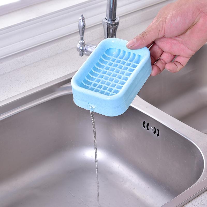 kitchen soap caddy sink faucet repair 2个装 浴室双层塑料沥水肥皂盒 剁手都要买的宝贝 浴室塑料肥皂盒沥水卫生间创意大号皂盒架托双层香皂