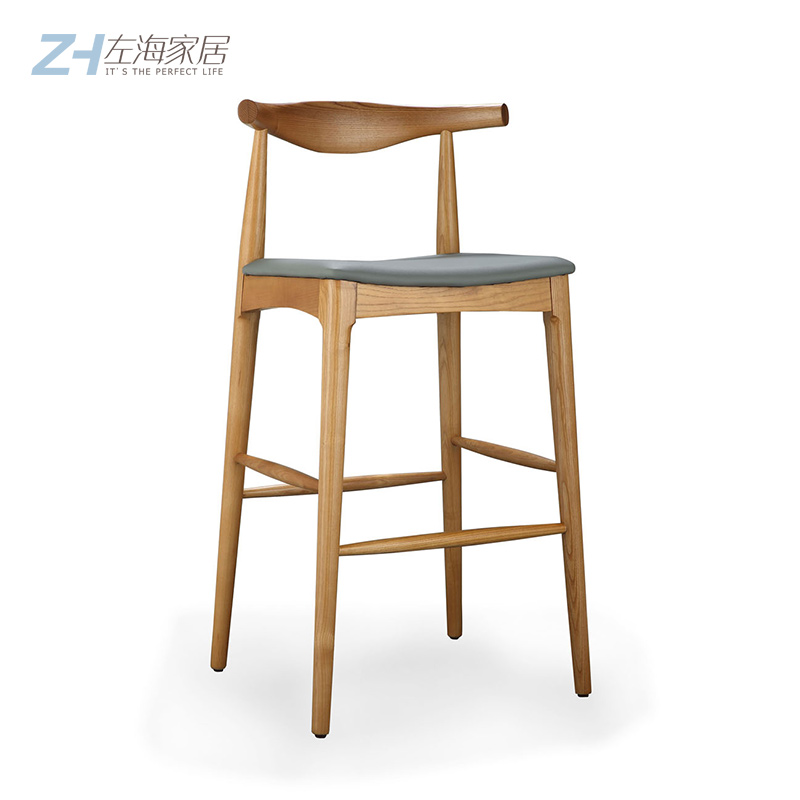 wood kitchen chairs building a island 北欧吧台椅淘宝价格比价 87笔 精准搜寻 第2 页 爱逛街台湾代购 北欧吧台椅现代简约厨房椅子高脚凳牛角靠背家用木制酒