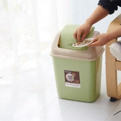 Rubbermaid Kitchen Trash Cans Flooring Types 摇盖垃圾桶家用塑料筒卫生间厕所有盖约客厅卧室带盖翻盖按压式 我剁手都 摇盖垃圾桶家用塑料筒卫生间厕所有盖约客厅卧室带盖