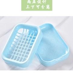 Kitchen Soap Caddy Dining Room Sets 2个装 浴室双层塑料沥水肥皂盒 剁手都要买的宝贝 浴室塑料肥皂盒沥水卫生间创意大号皂盒架托双层香皂