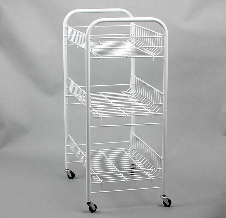 wire kitchen cart roman shades for 三层铁线架淘宝价格比价 81笔 爱逛街台湾代购 浴室宽体三层厨房推车收纳推车置物架铁线架