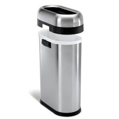 Simplehuman Kitchen Trash Can Cabinets Shelves 垃圾桶淘宝价格比价 64笔 新到旧排序 爱逛街台湾代购 美国代购simplehuman 酒店用垃圾桶商用高端50l 13 Gal