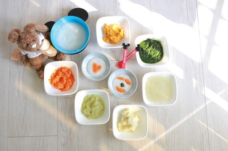 【Baby】4-6M第一階段副食品蔬菜類入門篇♥十倍粥、菠菜、胡蘿蔔、高麗菜、馬鈴薯、地瓜、洋蔥