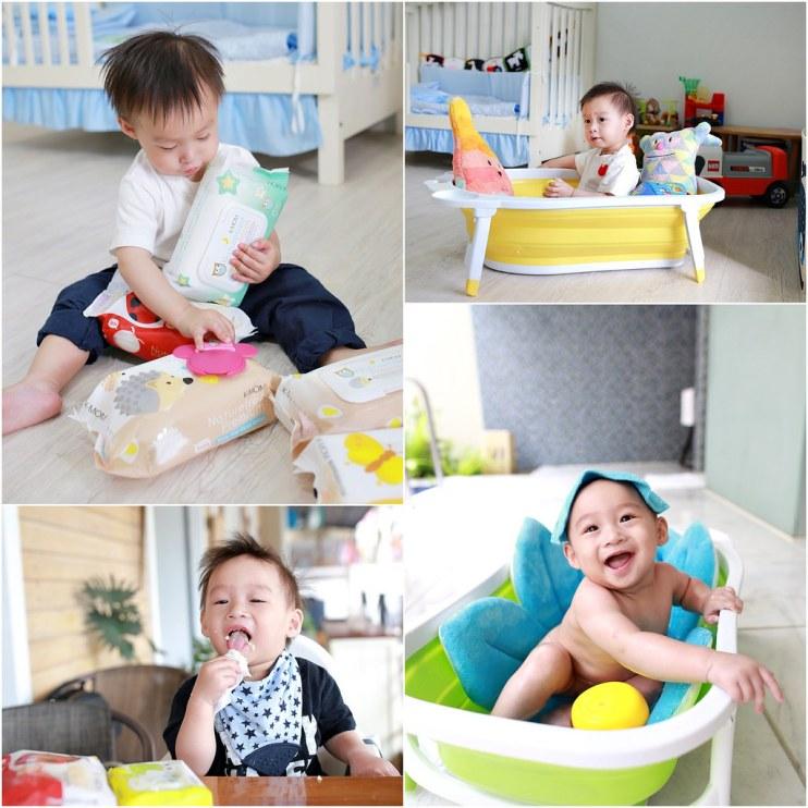 【團購】媽咪票選第一名的K-MOM有機濕紙巾&Karibu摺疊浴盆團購ing