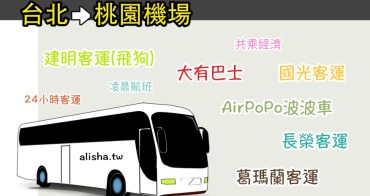 台北到桃園機場 桃園機場到台北 客運巴士總整理 凌晨航班 24小時客運 AirPoPo波波車(2016.12.5更新)