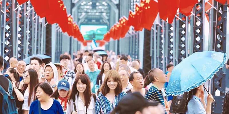 中國東北。丹東 鴨綠江斷橋.中朝友誼橋 從中國看朝鮮