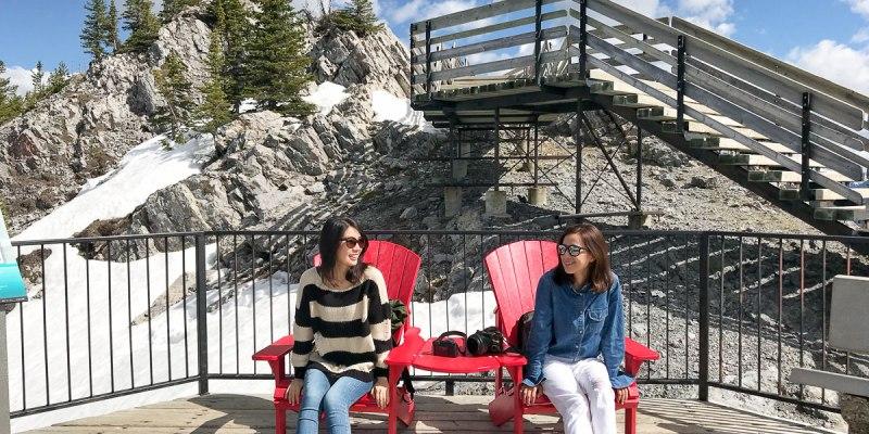加拿大・硫磺山|Banff Gondola 班夫纜車・尋找紅椅子遊戲