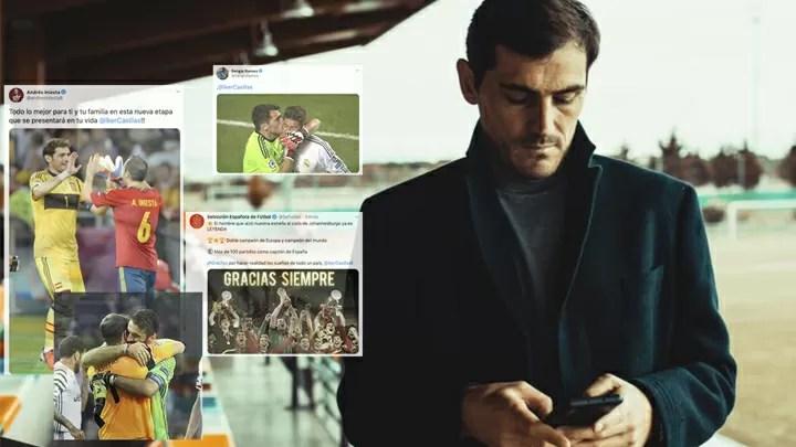 The reaction to Casillas' retirement: Ramos, Buffon, Iniesta 2