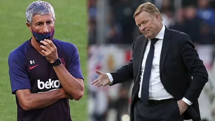 Setien and Barcelona haven't fully parted ways, so Koeman can't take charge of LaLiga opener 2