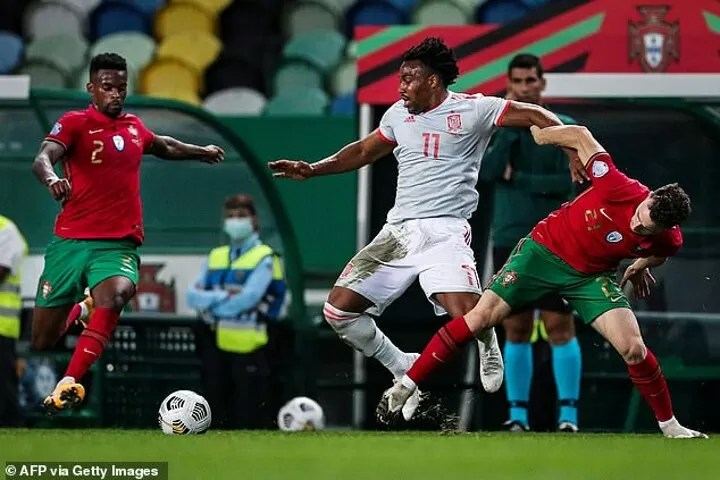 Ansu Fati and Adama Traore set to form explosive partnership for Spain 4