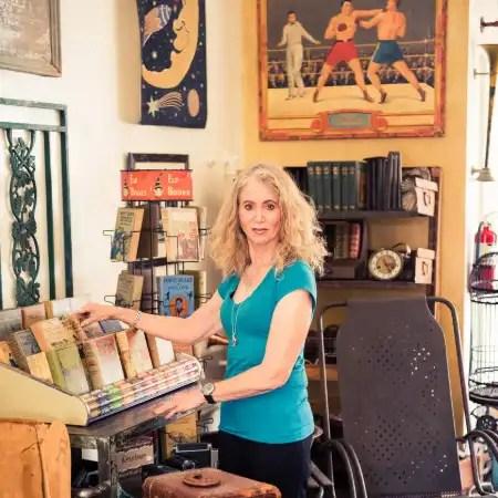 Jill in her antique shop