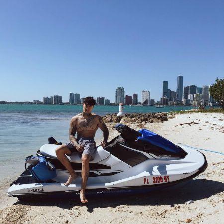 Chris Heria enjoying Jet skiing