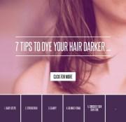7 tips dye hair darker