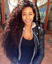 2. long natural hair - 40 curly