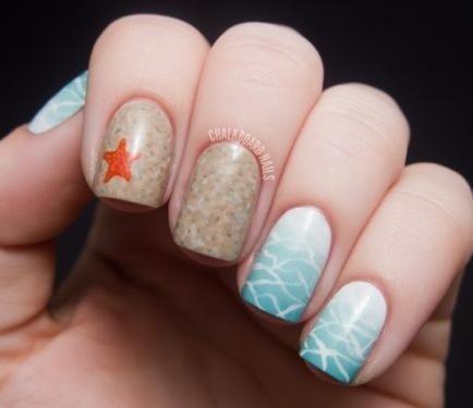 Beach Scene Nails