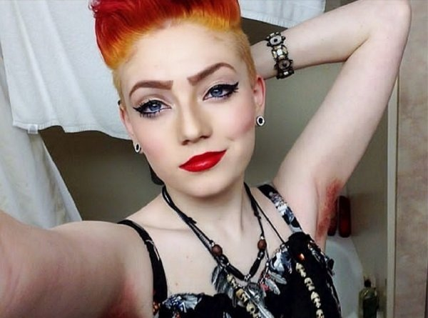 Trend Alert Dyed Armpit Hair Fashion