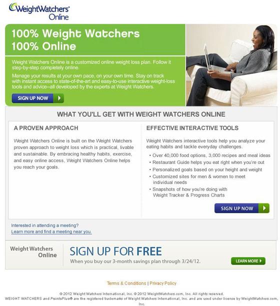 2 weight watchers online