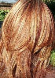 auburn hair blonde highlights