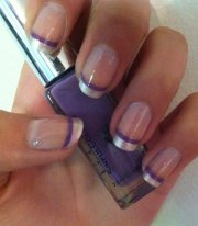 purple french manicure - 62 fabulous