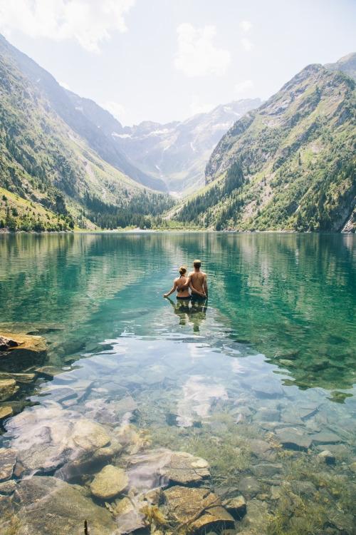 Lac du Lauvitel, river, lake, mountain,