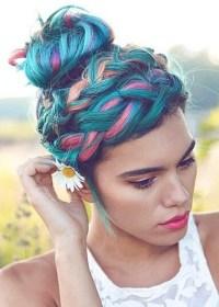 Coloured Braided Hairstyles | best 20 purple box braids ...