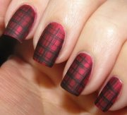 matte plaid nails - 39 awesome