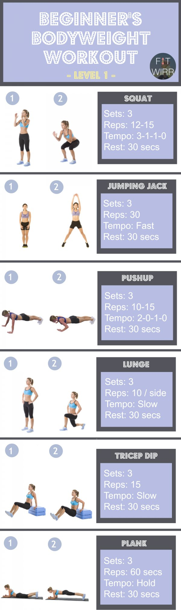 24 Body Weight Exercises You Can do Virtually Anywhere for ...
