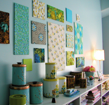 How To Decorate Craft Room Wall With Wooden Tiles Crafts Tiling