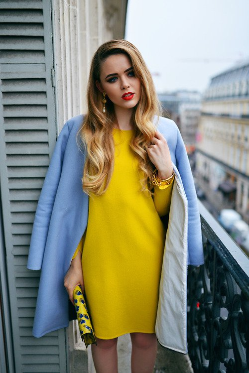 clothing, color, yellow, electric blue, cobalt blue,