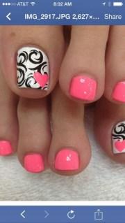 7. pink & white - fun summer pedicure