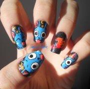 cool manga nails