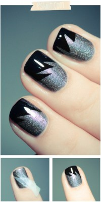 Geometric Shapes - 7 Ways to Make Nail Designs Using Tape