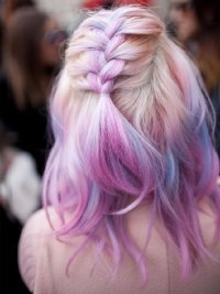 A Cotton Candy Braid - The Hottest Summer Hairstyles for