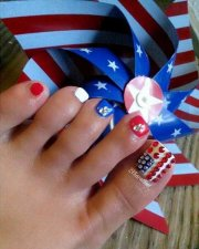 toe nail design 4th of