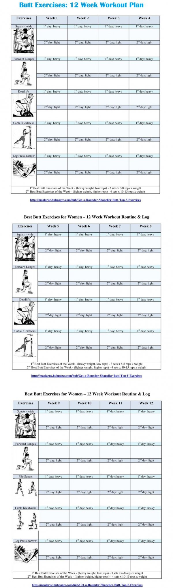 12 Week Butt Exercise Routine