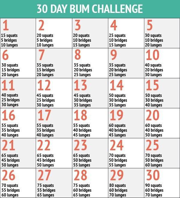 30 Day Bum Fitness Challenge