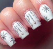 winter wedding nail art design