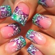 fantastic mardi gras nail art